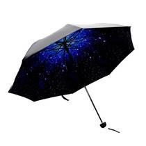 乾越QIANYUE创意?#24378;?#20254;黑胶折叠晴雨两用伞