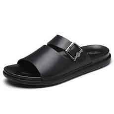 小童马2018夏季男鞋一字拖鞋露趾防滑软底沙滩鞋时尚外穿男士凉
