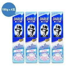 黑人 牙膏190g*4支 超白礦物鹽