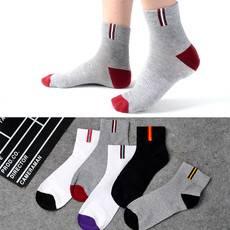 5雙裝棉襪子男士中筒商務運動長襪秋冬季襪子