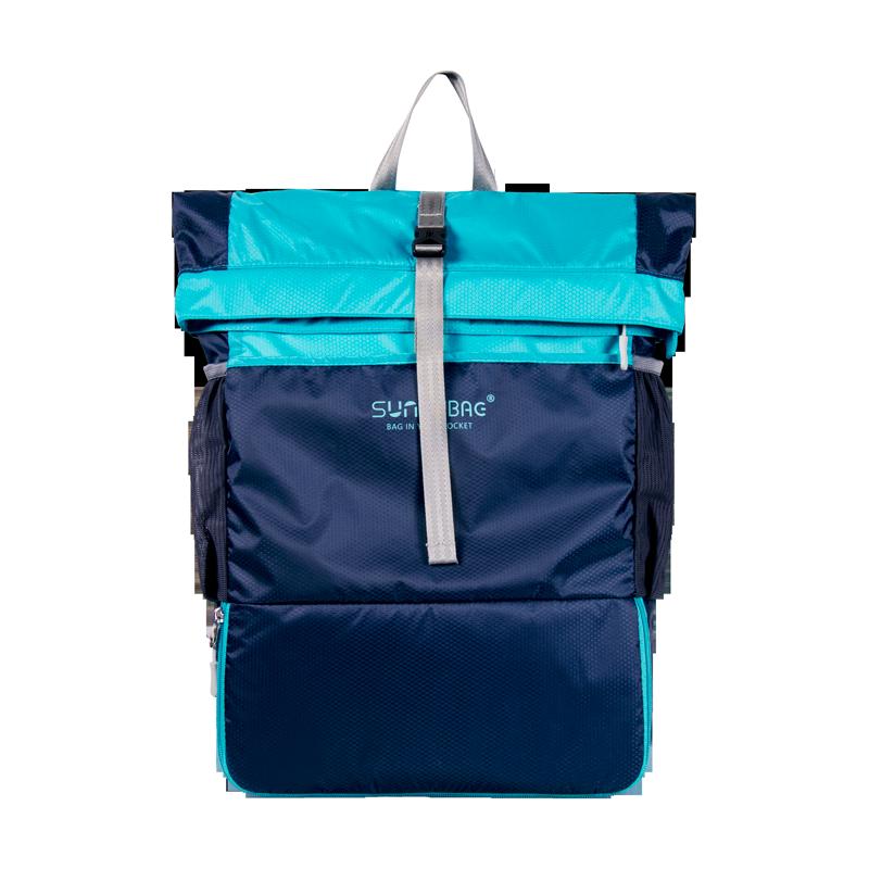 日光輕城 雙肩戶外背包徒步登山包可折疊皮膚包男女壓縮隨身包 防水旅行包包35L