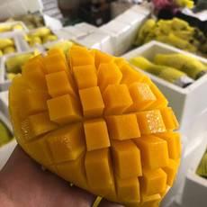【香甜多汁 果肉厚实】越?#27927;?#38738;芒果带箱9斤装(单果400g以上) 大芒果当季水果包邮